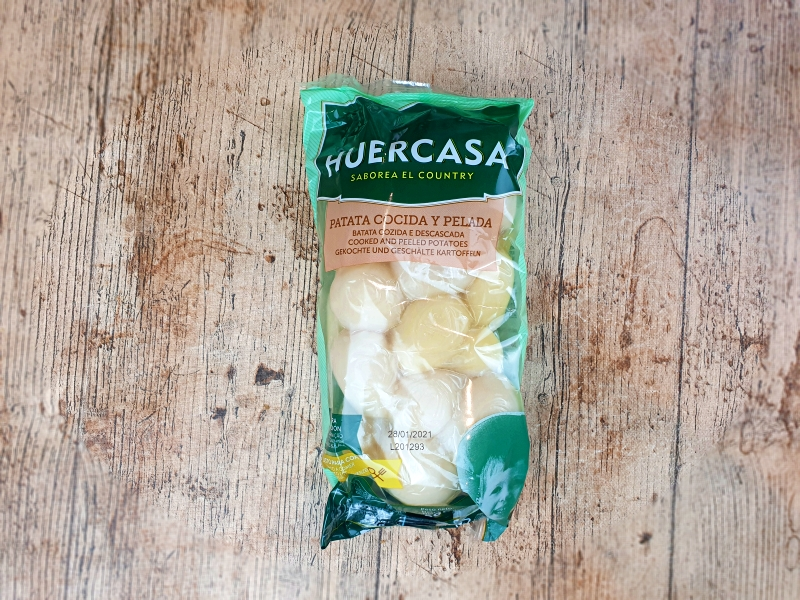 Patatas al vapor Huercasa. Unboxing Degustabox diciembre 2020