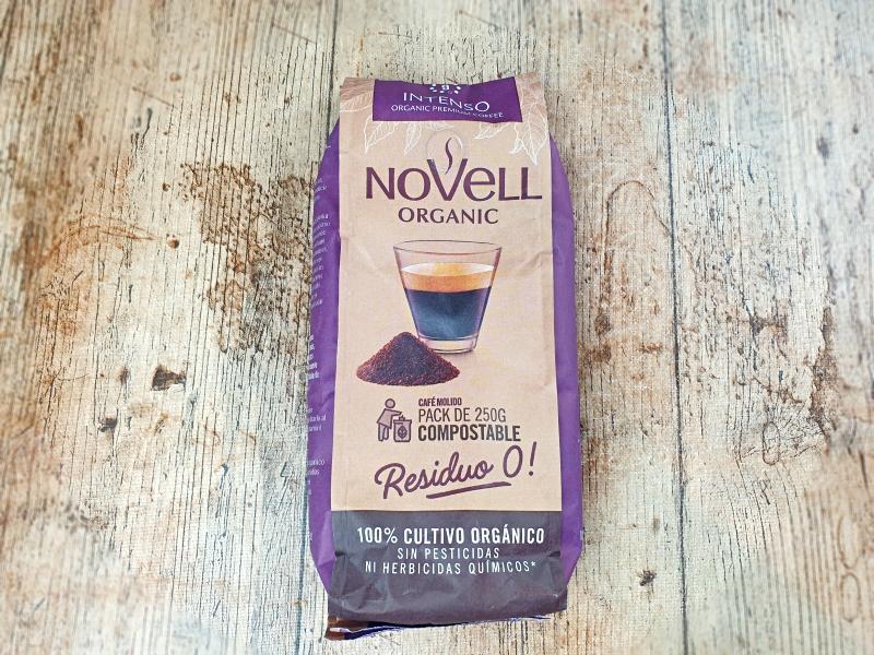 café orgánco Novell. Unboxing Degustabox diciembre 2020