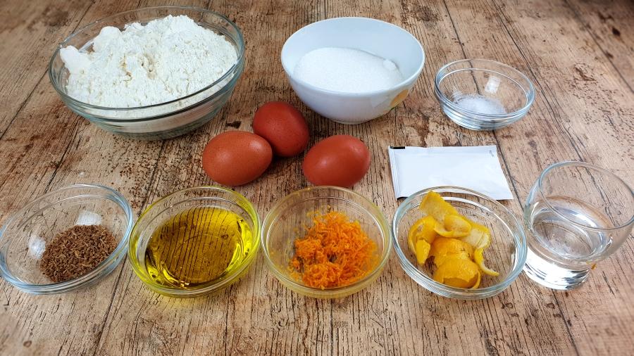Ingredientes rosquillas de Anis