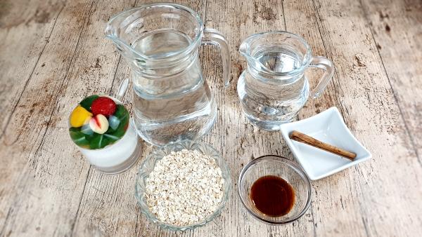 ingredientes leche de avena casera